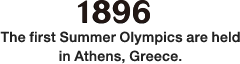 1896: The first Summer Olympics are held in Athens, Greece.